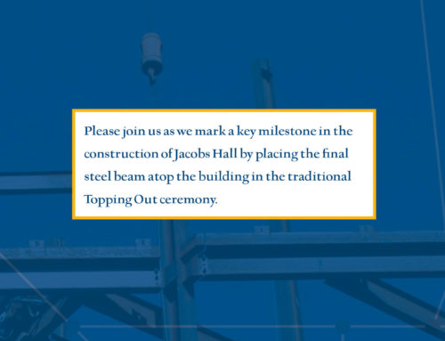Jacobs Hall Topping Out Invitation
